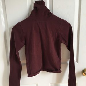 Maroon turtle neck from American Apparel